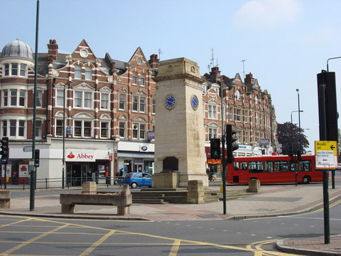 The Clock Tower in the heart of Golders Green